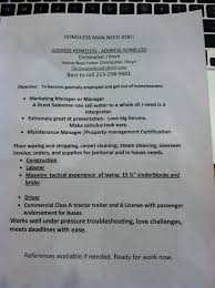 christopher j boyd homeless man hands out resumes on the