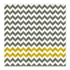 Yellow White Chevron Curtains Yellow Stripe Shower Curtain Foter