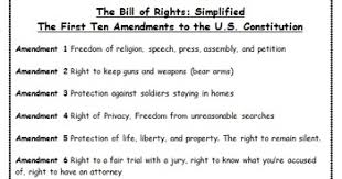 bill of rights fun analogy worksheet constitution day activity