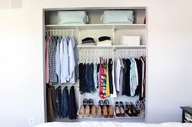 how to organize a closet small reach in closet organization ideas the happy housie