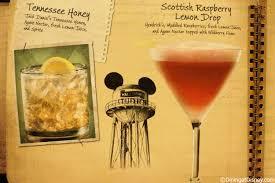 raspberry lemon drop martini disney drink menu cocktails