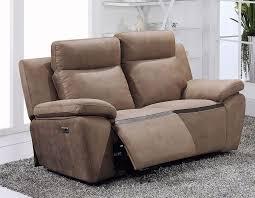 canapé 2 places relax cuir canapé relax électrique marron en pu et cuir douglas hcommehome