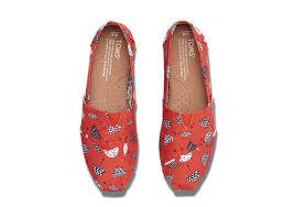 toms red canvas umbrella print women u0027s classics in red lyst