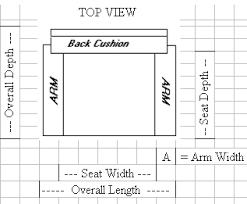 sofa seat depth measurement furniture measuring measurement guide carolina chair