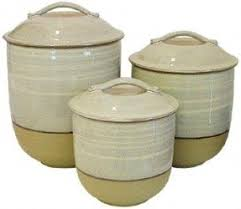 pottery kitchen canisters canister sets for kitchen ceramic foter