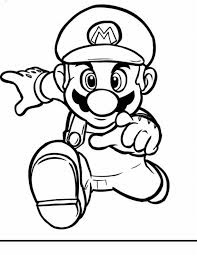 super mario kids coloring pages