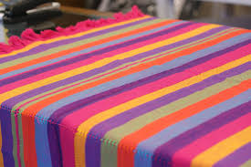 colorful cotton tablecloths and napkins from patzcuaro zinnia