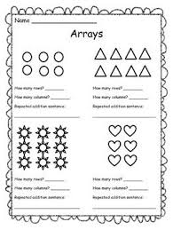 arrays worksheet 2nd grade free worksheets library download and