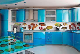 glass kitchen backsplash ideas colorful glass backsplash ideas adding digital prints to modern