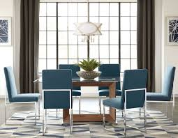 Leighton Dining Room Set by City Chic Walnut Glass Top Dining Room Set By Donny Osmond From