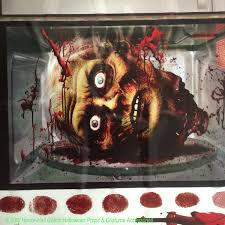 giant morgue bloody wall roll horror csi scene setter decoration