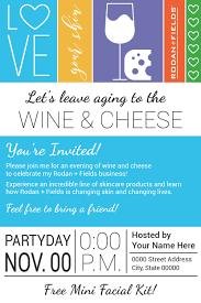 rodan and fields big biz launch wine u0026 cheese party evite