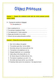 object pronouns worksheet free esl printable worksheets made by