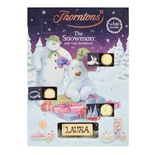 white chocolate snowman advent calendar collection