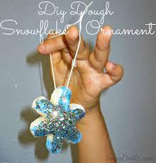 dough snowflake glitter ornaments craft for