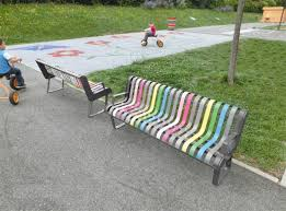 pastel steel multicolored bench atech