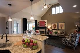 Open Concept Kitchen by Regency Homebuilders Open Concept Living Grey Red Neutral