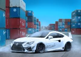 lexus white artstation white lexus rc f widebody matt mcquiggan