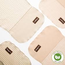 burp cloths 4 pack undyed organic cotton neutral colour