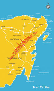 tulum map maps playa quintana roo riviera map