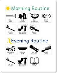 printable evening schedule printable morning evening routine at lifeyourway net reminder to