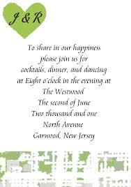wedding invitation wording reception following private ceremony