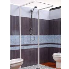 U Shaped Shower Curtain Rod Croydex Magnetic Hemmed U Shaped And Wall Profile Shower Curtain