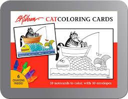 cats b kliban coloring cards