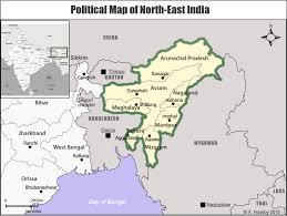 North India Map by Monthly Articles Developing North East India The Regional