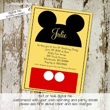 mickey mouse birthday invitation disney baby shower diaper shower