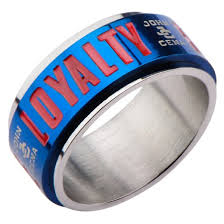 mens spinner rings men s cena hustle loyalty respect stainless steel
