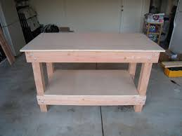 Woodworking Bench Plans Simple by Easy Garage Wood Shop Work Table Plans 2x4 Fast Free Build Make