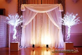 wedding backdrop altar altar backdrop trees with white uplights fabric b flickr
