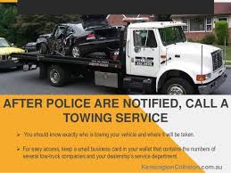 Tow Truck Business Cards What To Do If You Are In A Car Accident By Kensington Collision Panel U2026