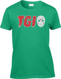 halloween movie shirt tgi jason mask halloween scary funny horror movie joke witty humor