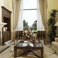elegant blue living room round coffee table three legs accent