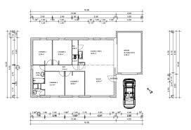 plan de maison 100m2 3 chambres plan maison 100m2 plain pied 3 chambres immobilier pour tous