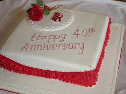 40th wedding anniversary party ideas this 40th anniversary cake has a unique square design with lovely