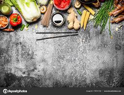 chinois pour cuisine cuisine asiatique une variété d ingrédients pour la cuisson des
