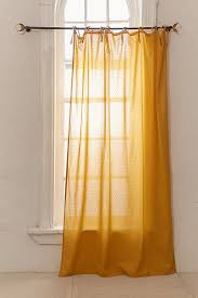 Yellow Curtain Swiss Dot Curtain Outfitters