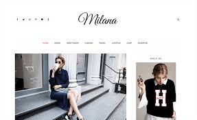 templates blogger themes milana responsive fashion blogger template