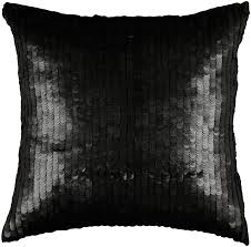 District17 Black Sequin Throw Pillow Pillows