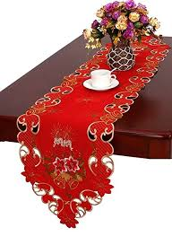 bella lux fine linens table runner amazon com grelucgo christmas table runner and scarf embroidered
