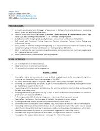 Resume For 1 Year Experienced Software Engineer Resume For Software Test Engineer
