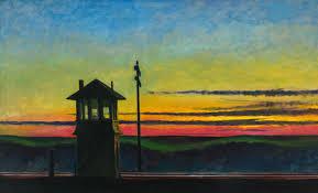edward hopper railroad sunset 1929 edward hopper pinterest