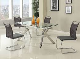 ella extension glass dining table by chintaly