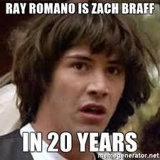 Zach Braff Meme - ray romano is zach braff in 20 years conspiracy keanu meme