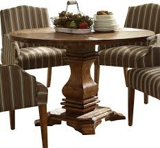 Round Pedestal Dining Tables Homelegance Euro Casual Round Pedestal Dining Table In Rustic