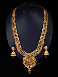 long chain fashion necklace images Indian jewellery and clothing vb jewellers gold jewellery n art jpg