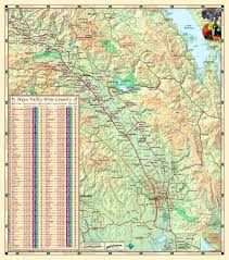 Napa Valley Winery Map Napa Valley Wine Country Wall Map Maps Com